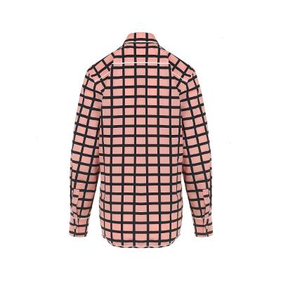 check pattern point shirt pink